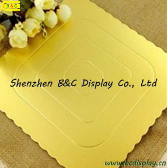 Corrugated Paper Board with Round Flower Edges FDA Cake Plates with SGS (B&C-K061)