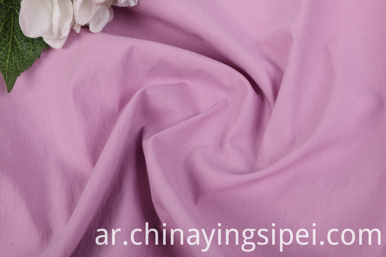 Good quality stocklot dyed solid plain cotton woven nylon fabric for women's dress