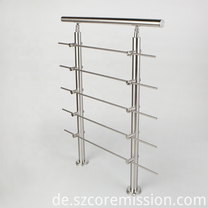 High Quality Floor Mounted Stainless Steel Stair Handrail