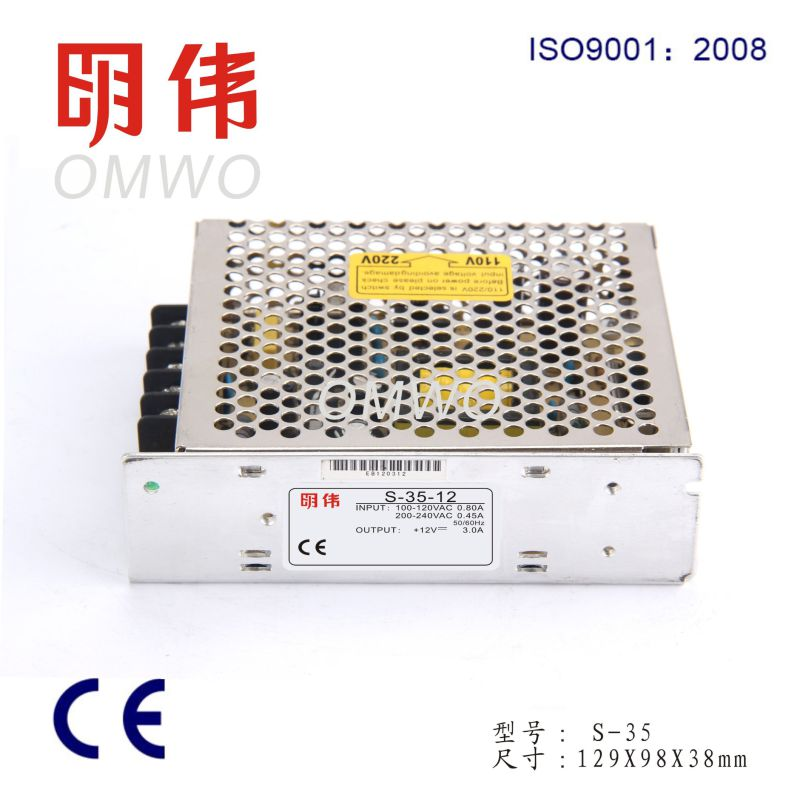 Wxe-35s-2 AC/DC Compact Single Output Enclosed LED Switching Power Supply