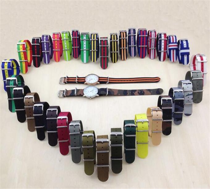 Yxl-609 Factory Directly Custom Nylon Watch Strap, 18mm 20mm 22mm 24mm Watch Strap Belt, Strap Watch Wholesale