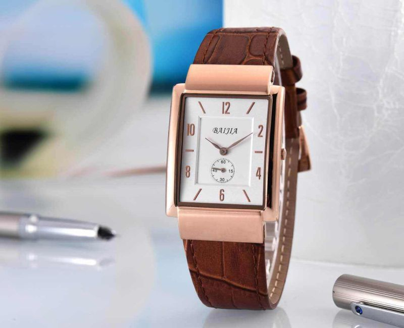 Water Resistent Leather Band Ladies Dress Watch