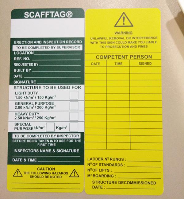 OEM Professional Plastic Sacffold Tag Holder Maker