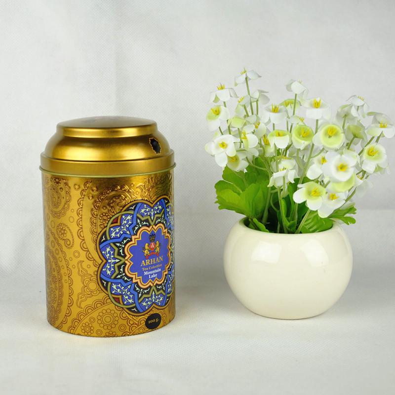 Custom Round Metal Tin Box for Tea