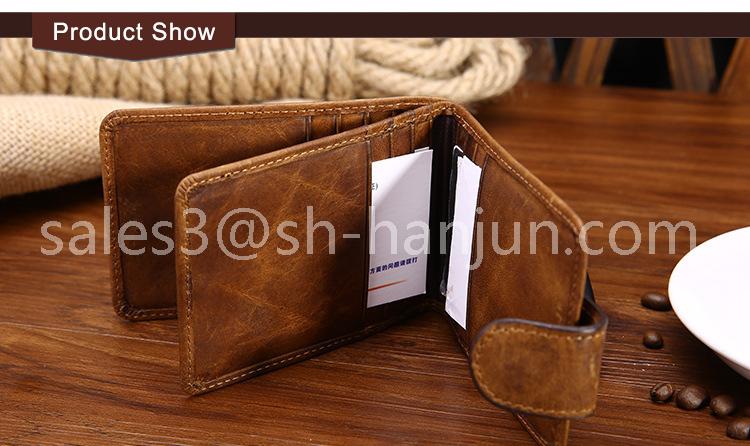 Custom Black Business Genuine Leather Credit Card Holder