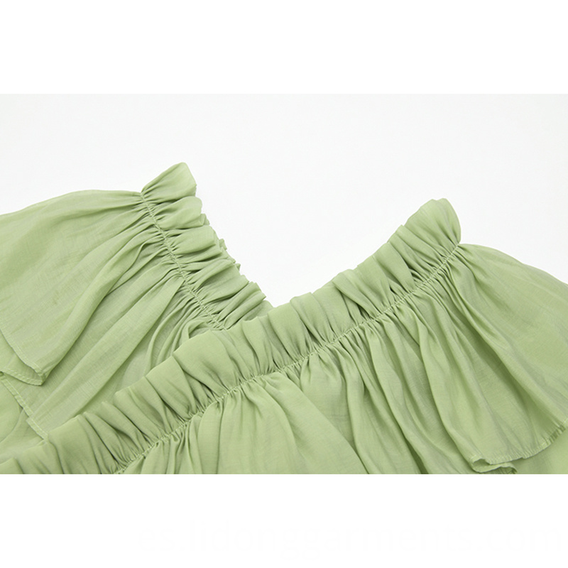 Chiffon Ruffles Mint Dress