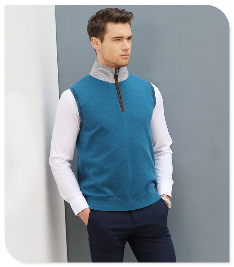2017 New Style Man's Cashmere Sweater Vest