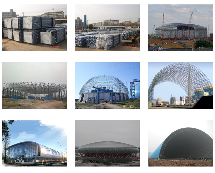 Prefabricated Arch Steel Space Frame Roofing Cover