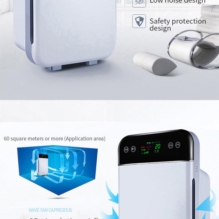 空气净化器,配备真正的 HEPA 过滤器落地式遥控超级电离器,适用于大房间办公室
