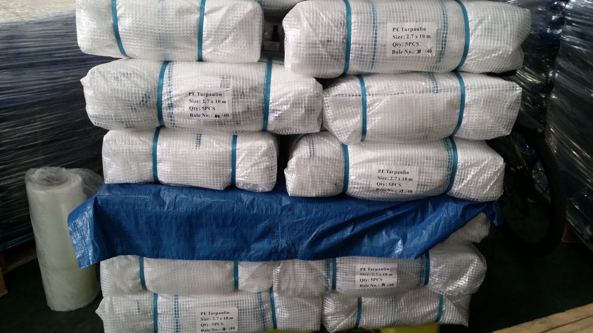 PE leno tarpaulin bale packing