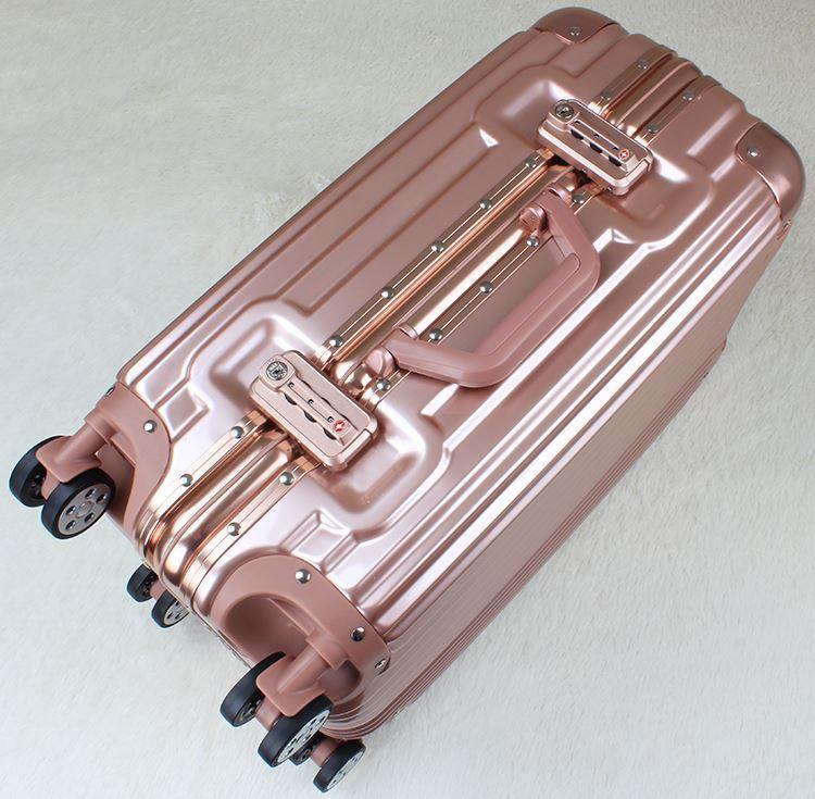 Travel Aluminum Alloy Spinner Wheel Luggage Suitcase (HL-2001)