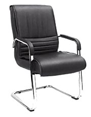 Modern Leather Meeting Office Conference Visitor Chair Without Wheels (HF-BLA174D)