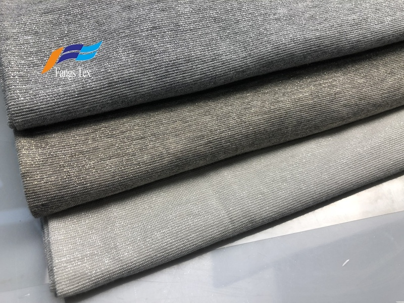 Lurex Nylon Knitted Polyester Spandex Shiny Lycra Fabric 5