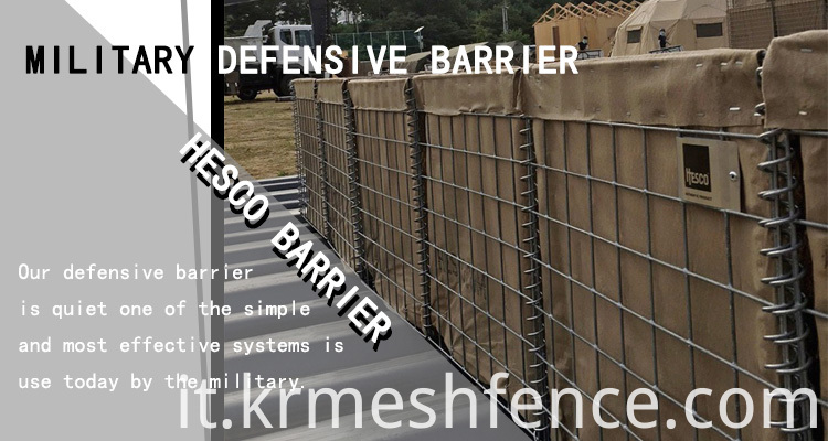 hesco barrier Defence blast wall for safety