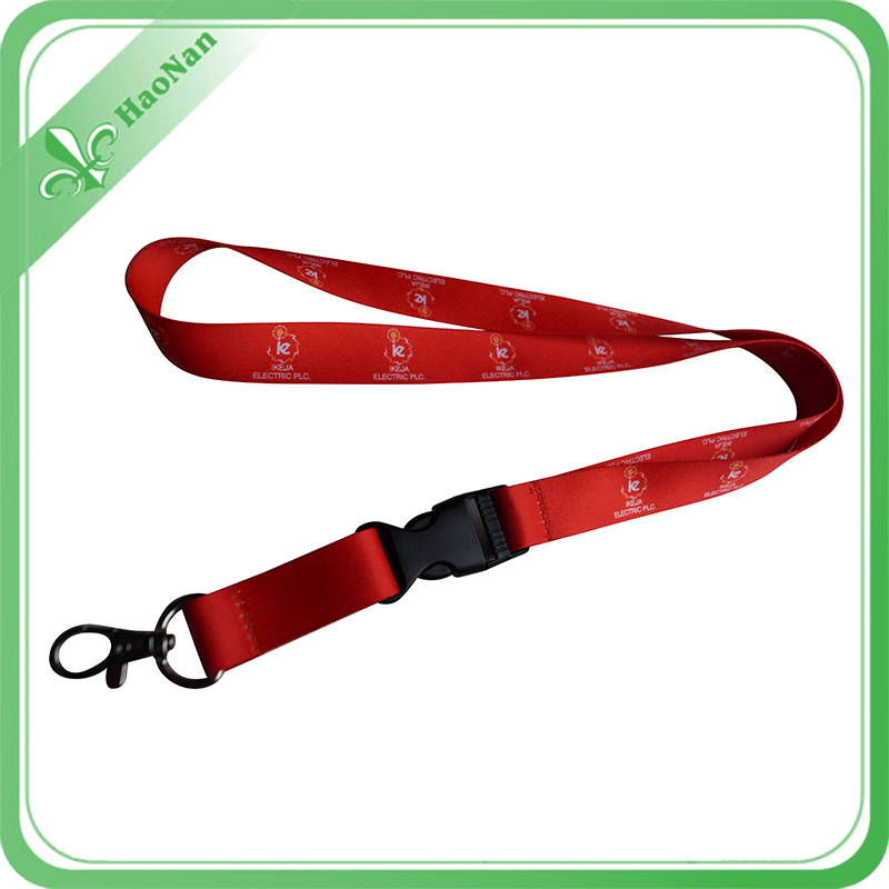 Lanyard with Metal Hook and Adjustable Buckle for ID Card with No Minimum Quantity