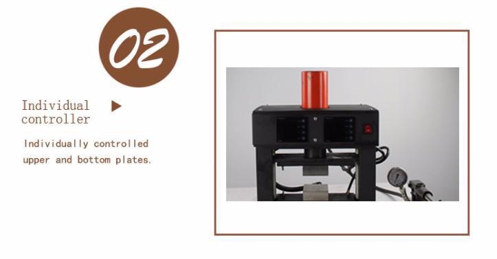 20T Hottest High Pressure dual heating plates hydraulic rosin heat press
