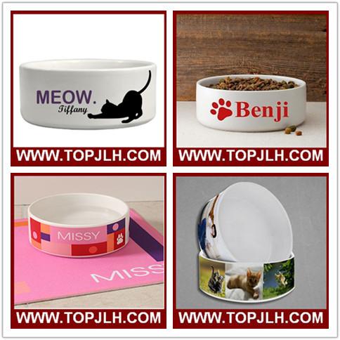 Heat Transfer Sublimation Ceramic Dog Bowl