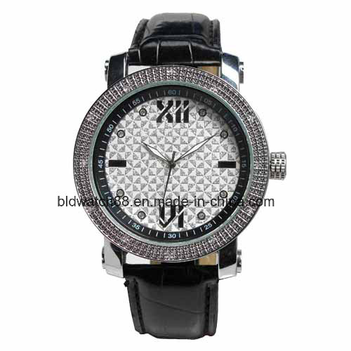 Antique Analog Promotion Quartz Gift Watch with Leather Band