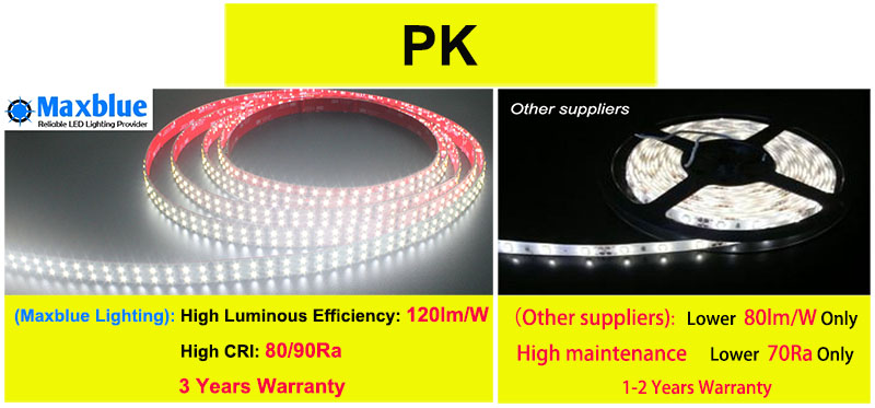 SMD2835 144LEDs/M Double Row LED Strip Light