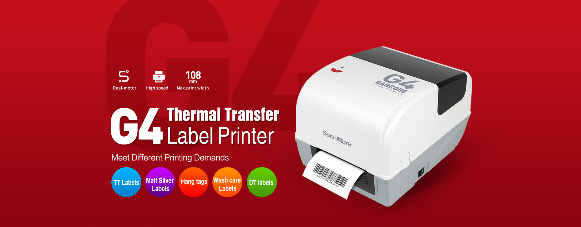G4 thermal transfer printer