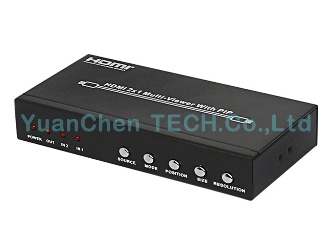 2X1 Multi-Viewer V1.3 HDMI Switcher with Pip