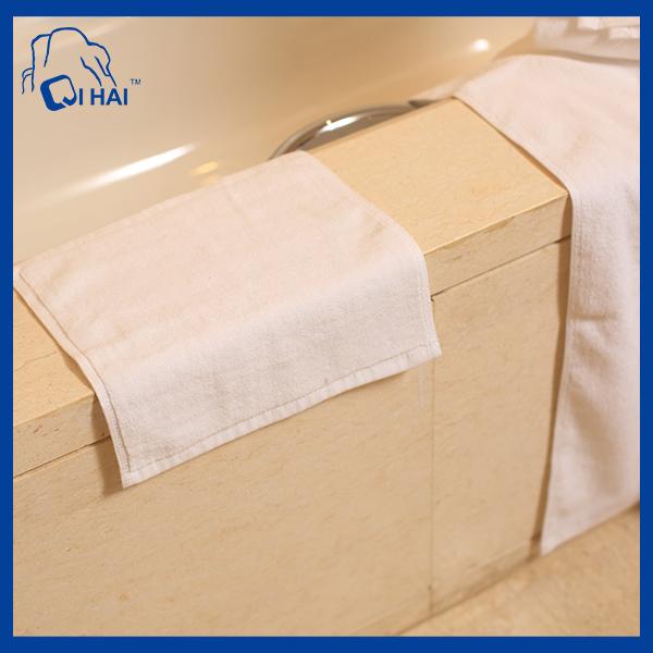 Cotton Plain Satin Hotel Face Towel (QHA0934)