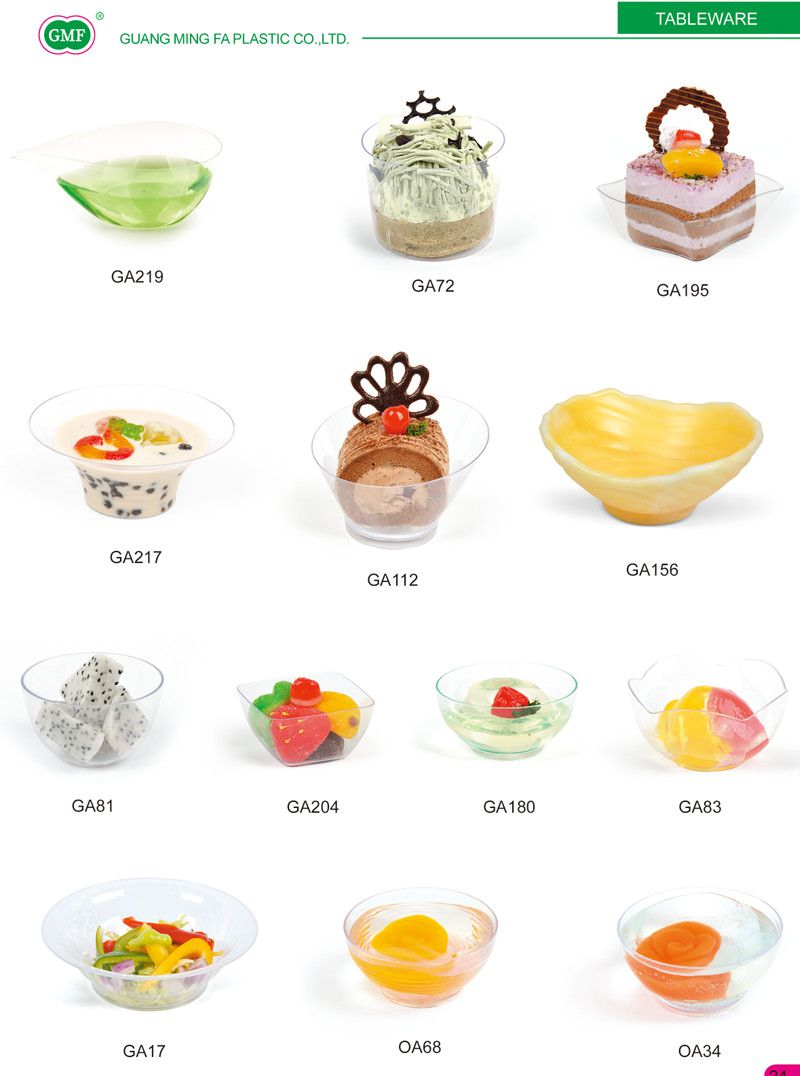 Plastic Bowl Ice Cream Bowl with Lid Tableware