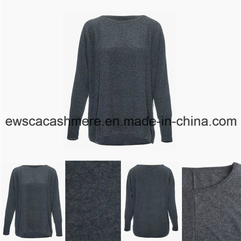 Women's Round Neck Casual Style Top Grade Pure Cashmere Sweater