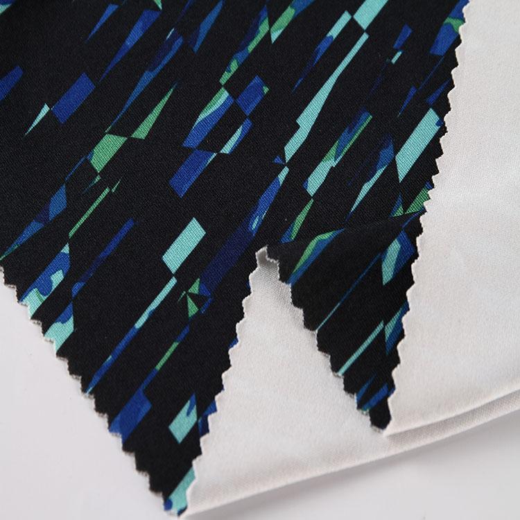 milk silk print fabric
