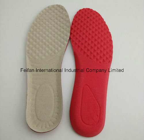 High Quality Anti Odour Absorb Sweat Antibacterial Mildew Proof Aosolite & Top Leather Insole (FF728-1)