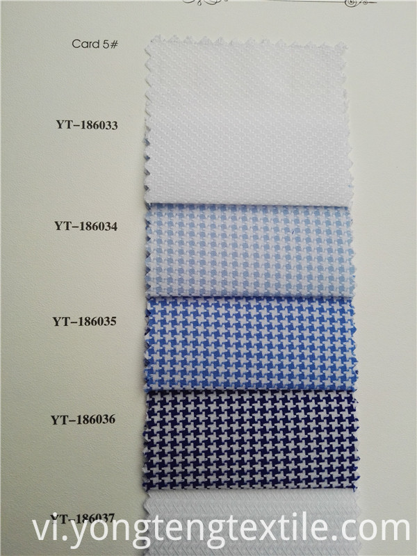 cotton yarn dyed high end dobby shirt fabric