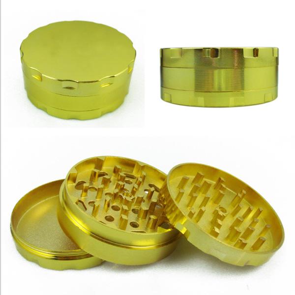 Tobacco Grinder, Hand Muller, Gold Metal Smoking Grinder