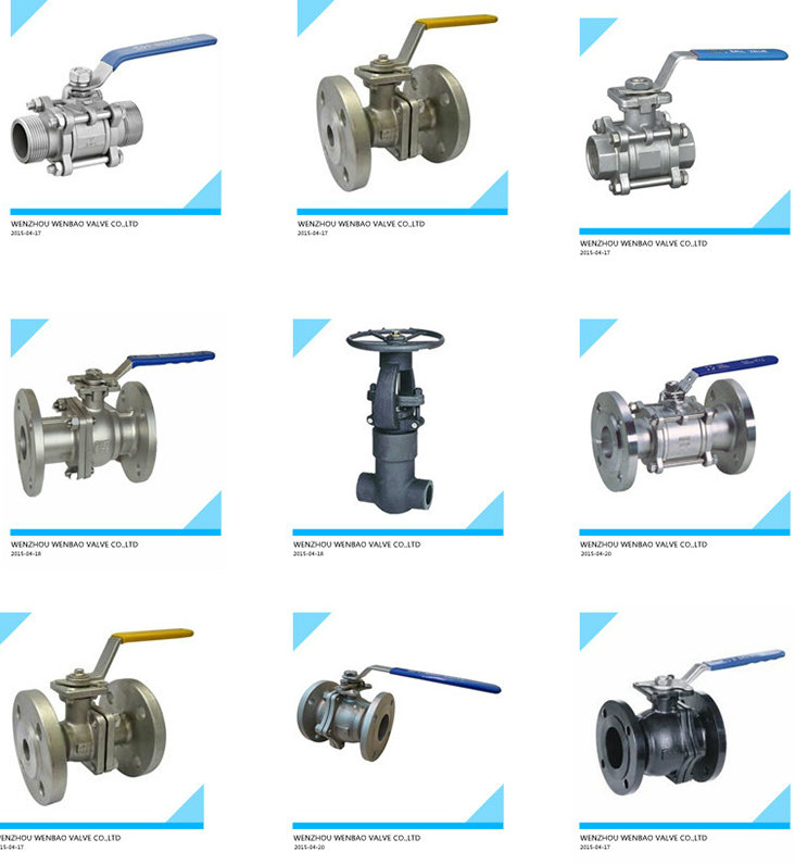 3PC Carbon Steel Flanged Floating Ball Valve with Manul Handle