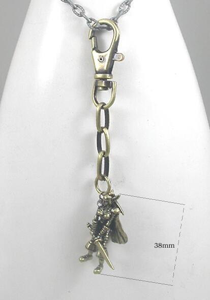 Brass-Made Metal Human Warrior Designs Keychain
