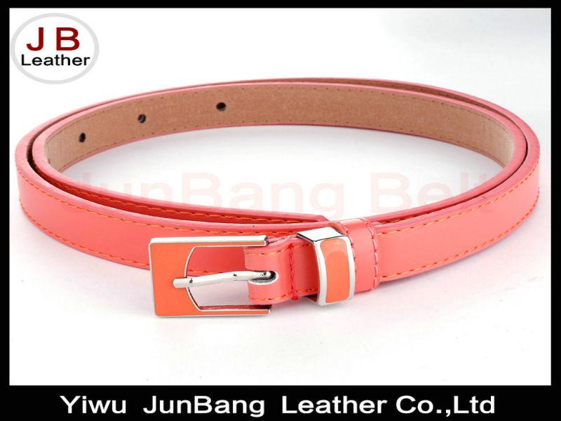 Lovely Design Enamel Lady PU Belt