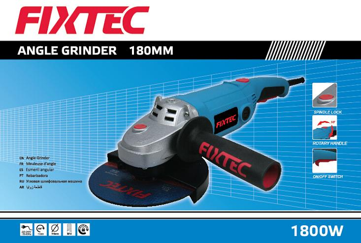 Fixtec 1800W 180mm Electric Crown Angle Grinder for Sale