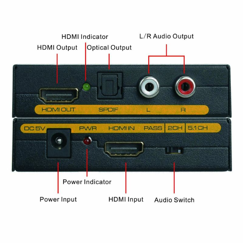 HDMI to HDMI+Audio Extractor Converter