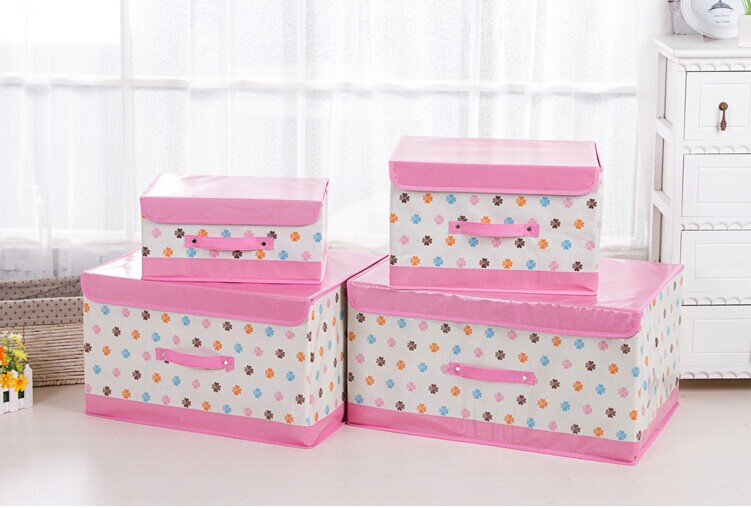 Nylon-Oxford Printing Storage Bag Foldable Cloth Storage Box