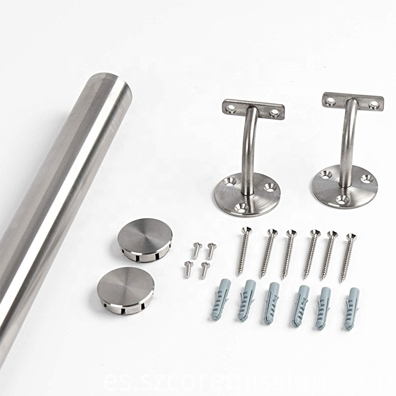 304ss Removable Wall Mounted Stainless Steel Stair Handrail