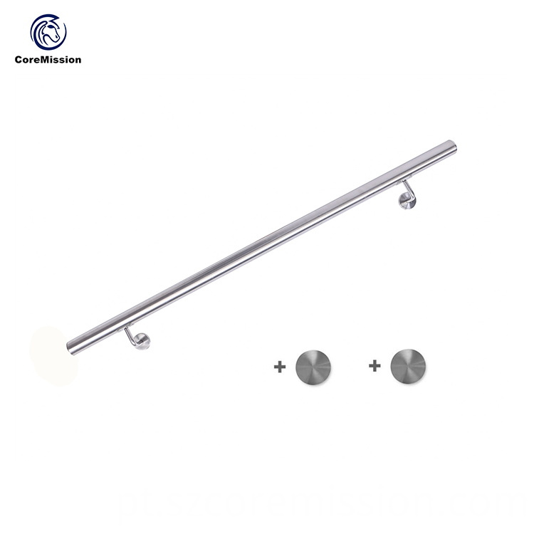 304 Easy Installing Antirust Stainless Steel Stair Handrail