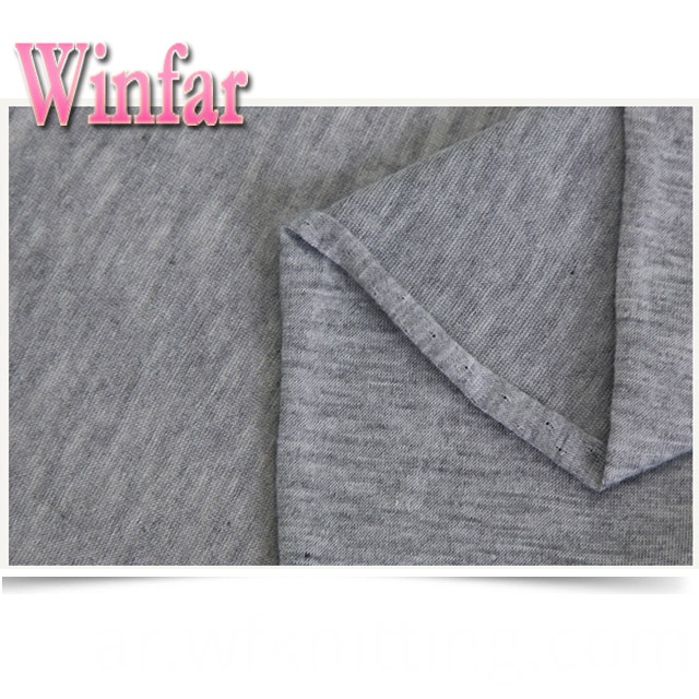 Grey Polyester Knit Fabric