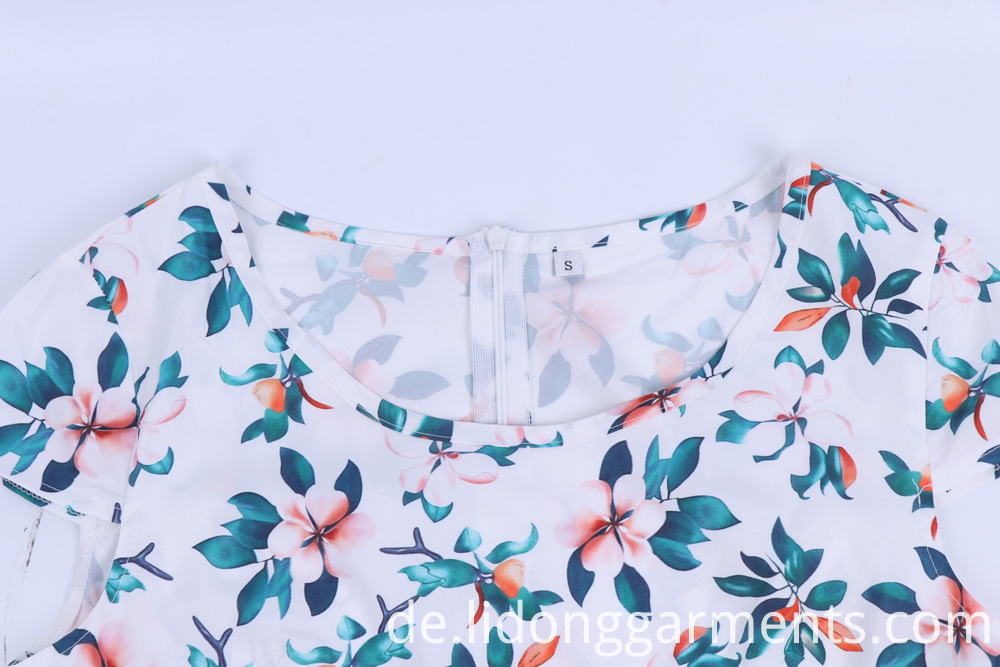 Floral Pattern Printed Dress Pattern