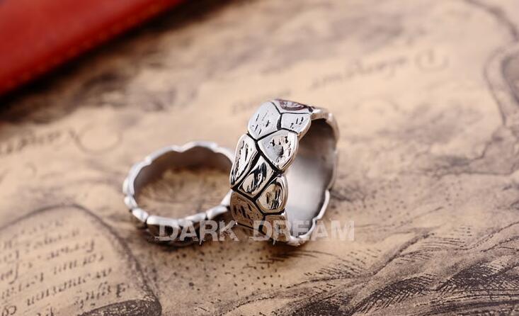 Couples Ring Titanium Steel Retro Silver Color Unrub-off