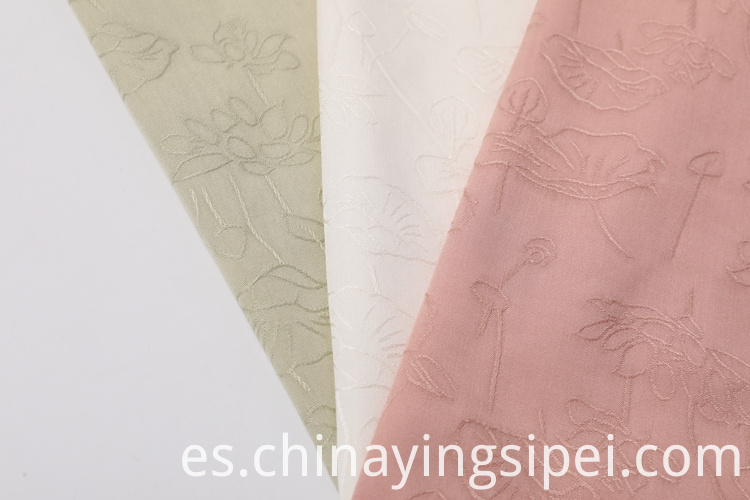 Woven Dobby Dyed Women Rayon Fabric For Clothing