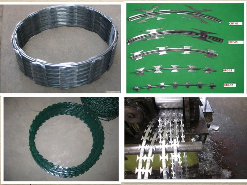 Hot-Dipped Galvanized Iron Razor Barbed Wire with Good Quality