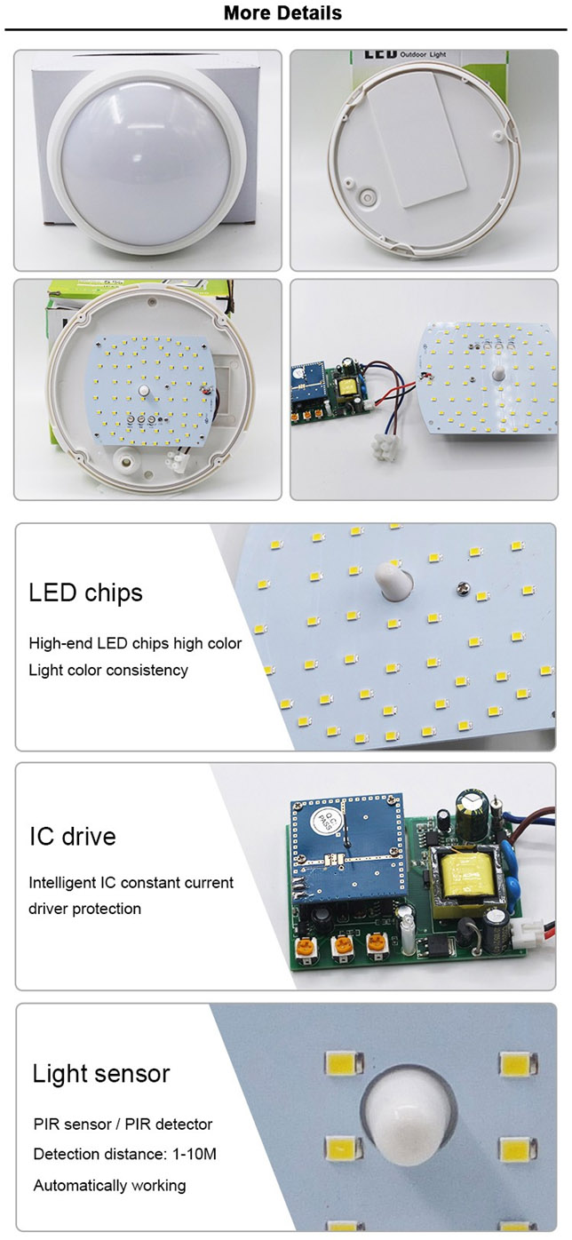 Crystal LED Ceiling Light with Mircowave Motion+Dimming Sensor
