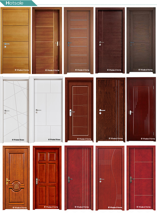 Customize High Quality PVC Wooden Doors for Houses Projects Worldwide