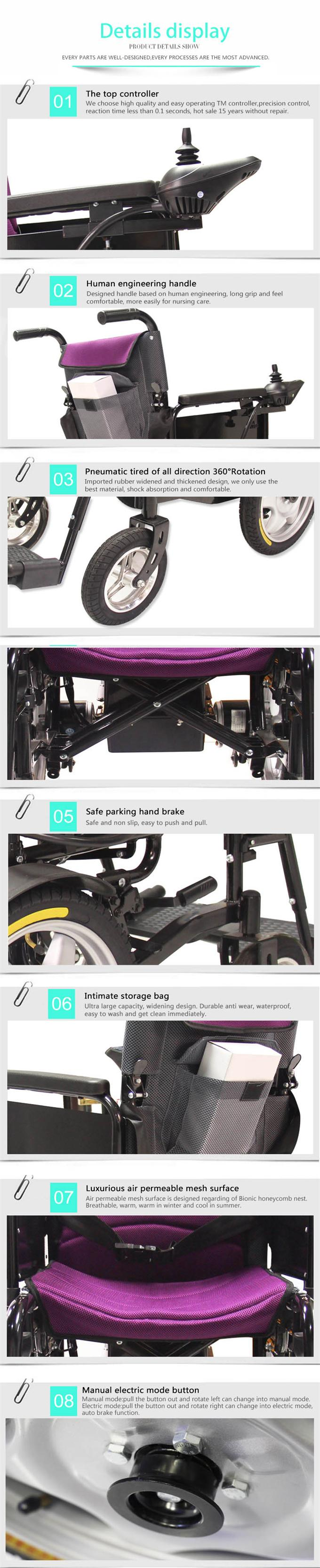 Cheap Folding Electric Power Wheelchair for Disabled People