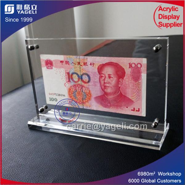 Clear Acrylic 2 Coins Frame