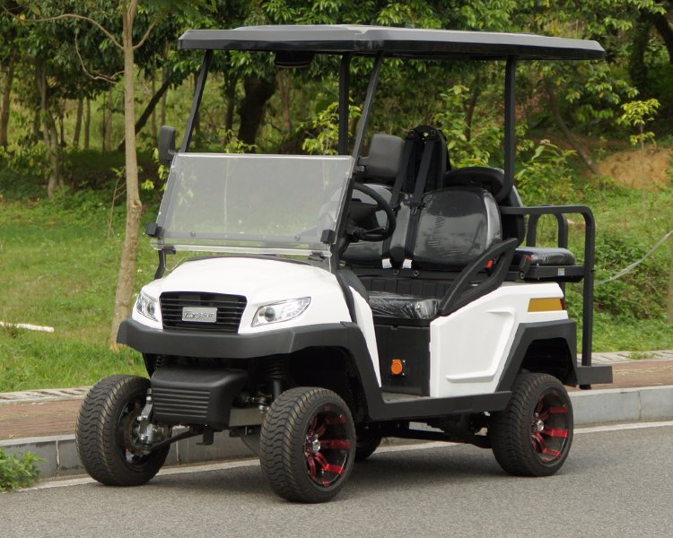 4 Seater Electric Golf Buggy with Flip-Flop Back Seat